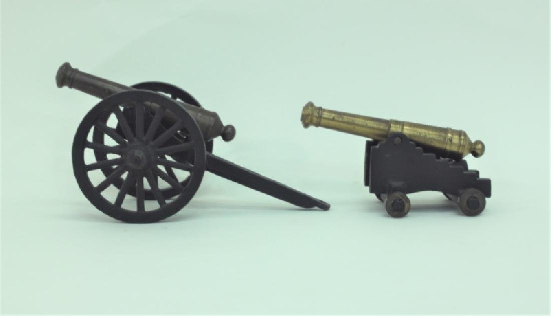 Civil War Brass Cannon Models Cast Iron Carriages