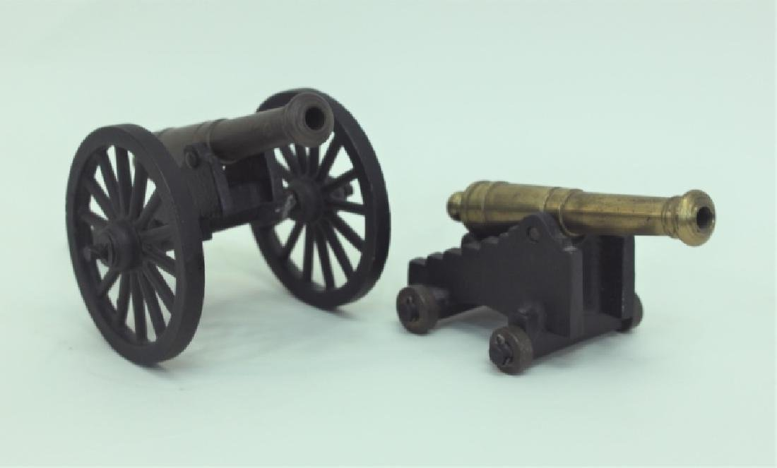 Civil War Brass Cannon Models Cast Iron Carriages - 6
