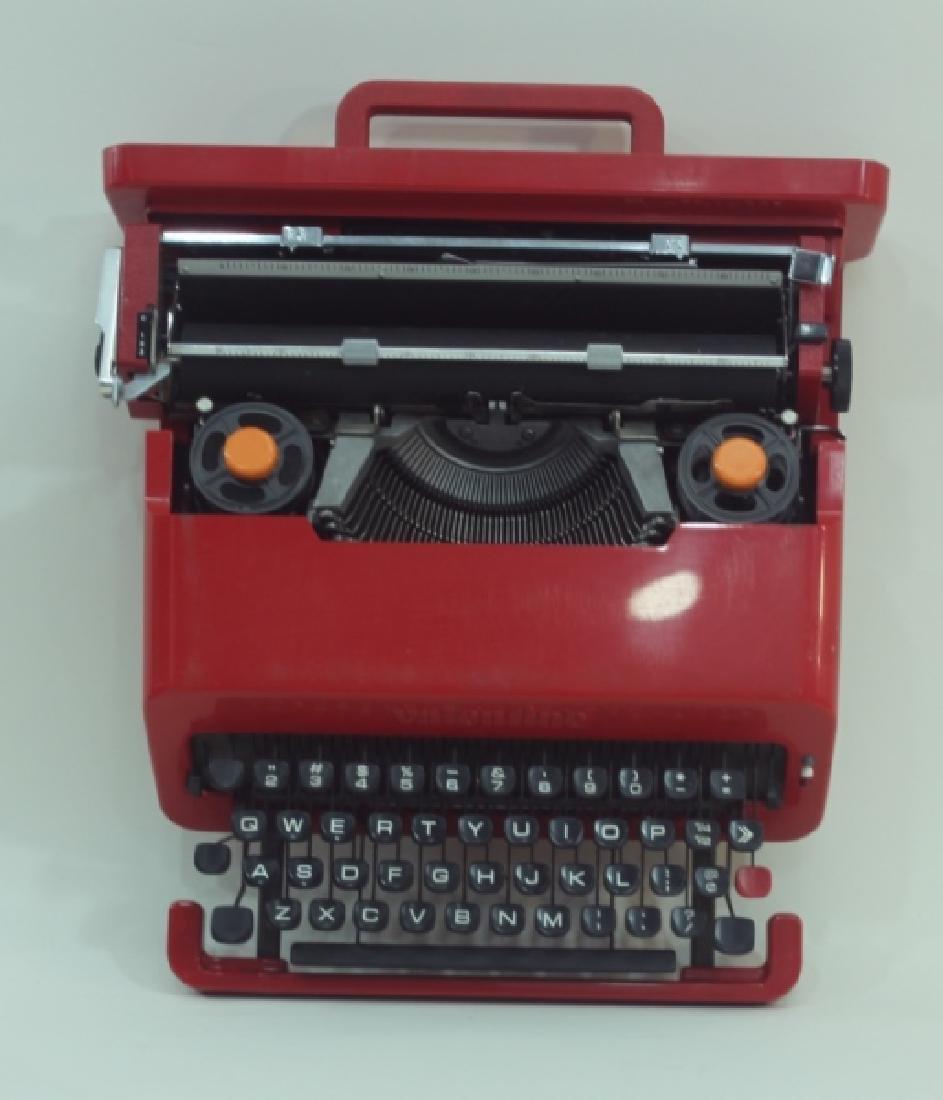 """Olivetti Sottsass """"Valentine"""" Portable Typewriter - 7"""
