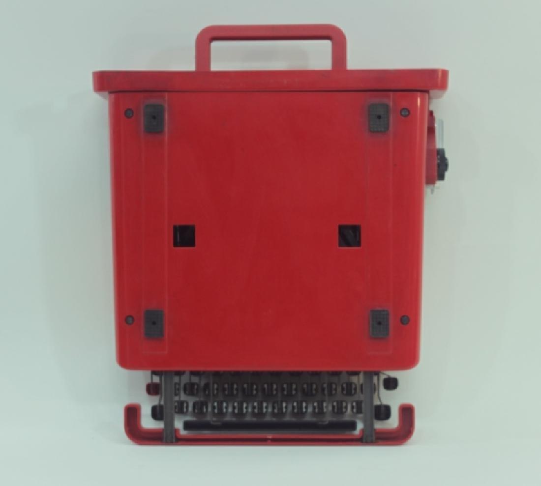 """Olivetti Sottsass """"Valentine"""" Portable Typewriter - 8"""