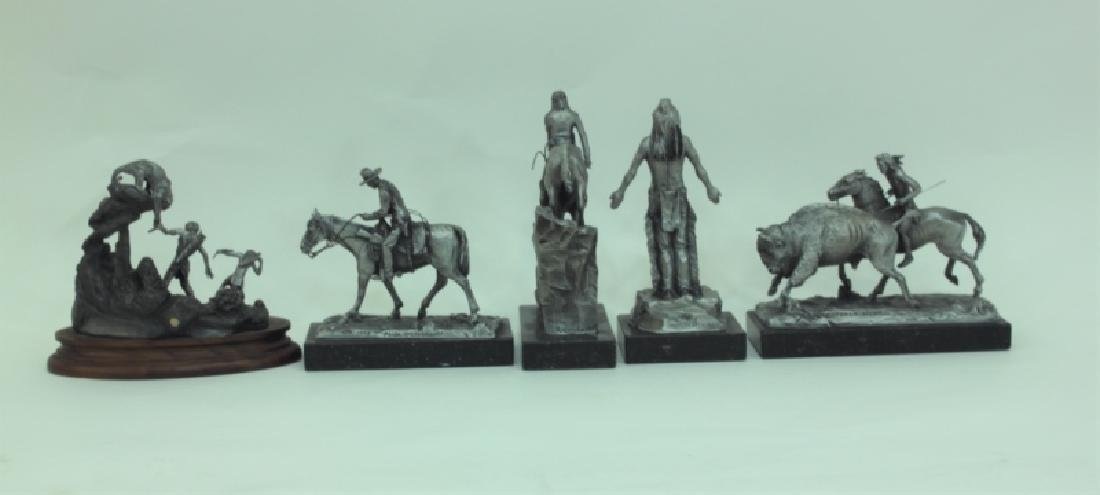 (5) Pc Phil Kraczkowski & Barnum Indian Sculptures - 3