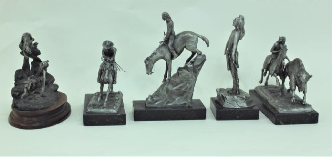 (5) Pc Phil Kraczkowski & Barnum Indian Sculptures - 4