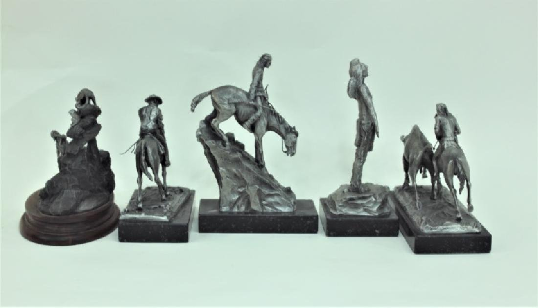 (5) Pc Phil Kraczkowski & Barnum Indian Sculptures - 5