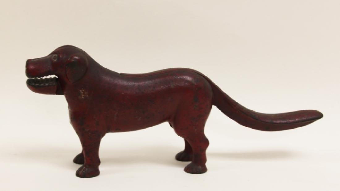 19thC American Cast Iron Dog Nut Cracker - 2