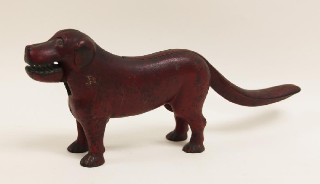19thC American Cast Iron Dog Nut Cracker - 3