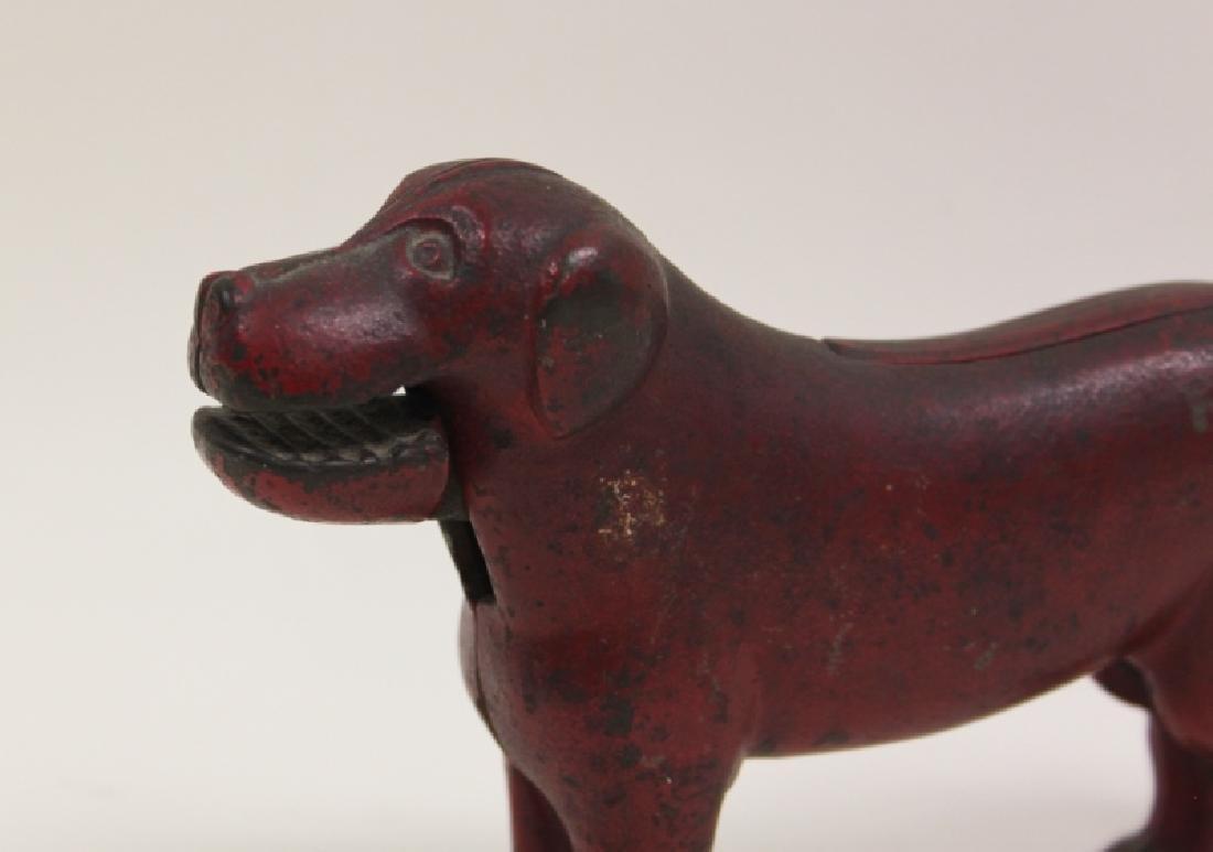 19thC American Cast Iron Dog Nut Cracker - 4