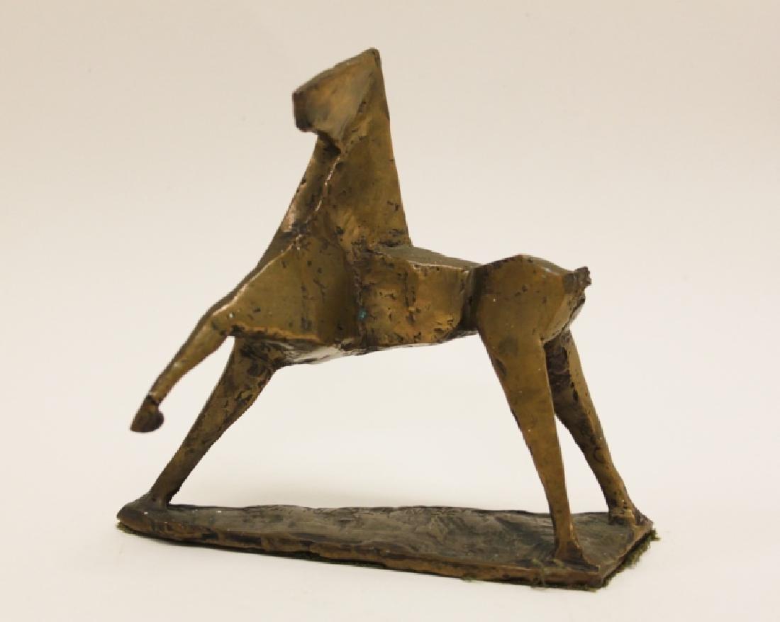 Vintage Cubist Modern Sculpture of a Horse