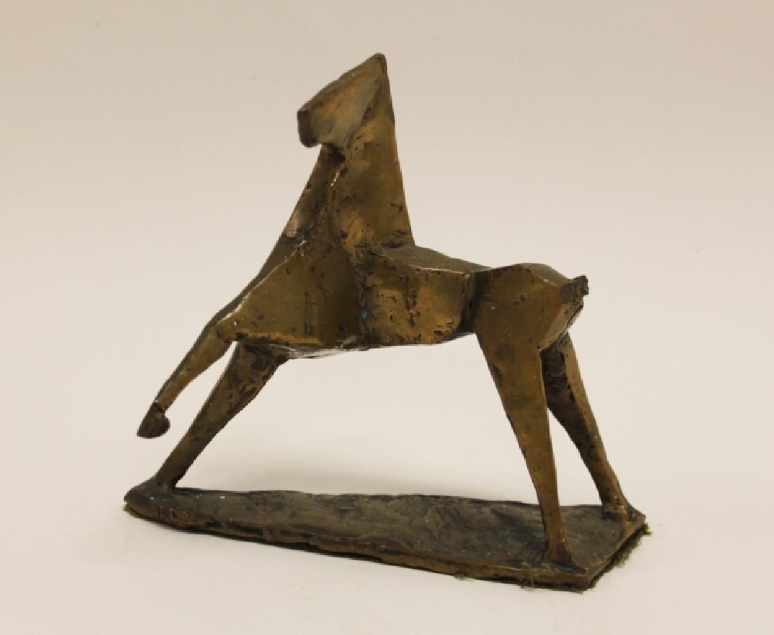 Vintage Cubist Modern Sculpture of a Horse - 2