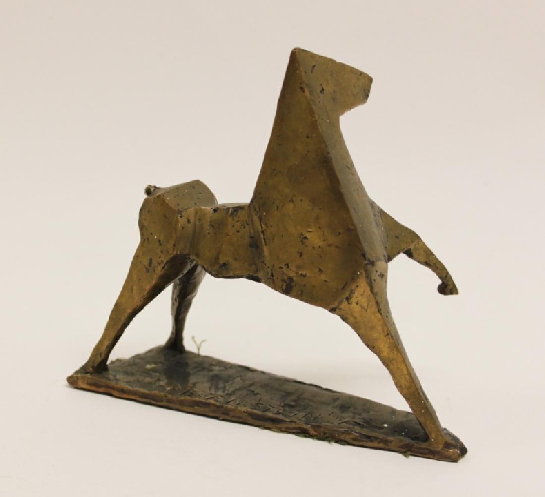 Vintage Cubist Modern Sculpture of a Horse - 5