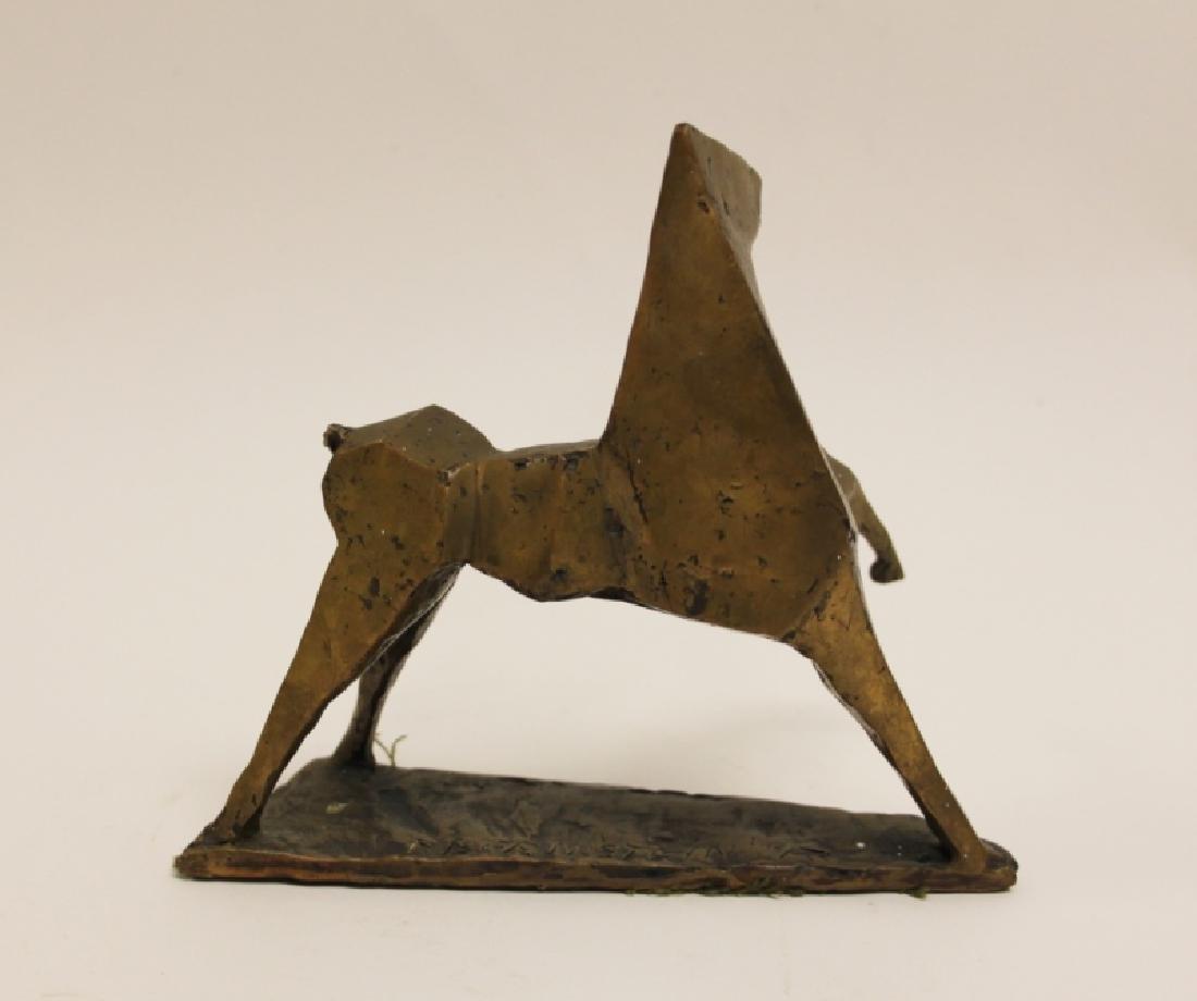 Vintage Cubist Modern Sculpture of a Horse - 6