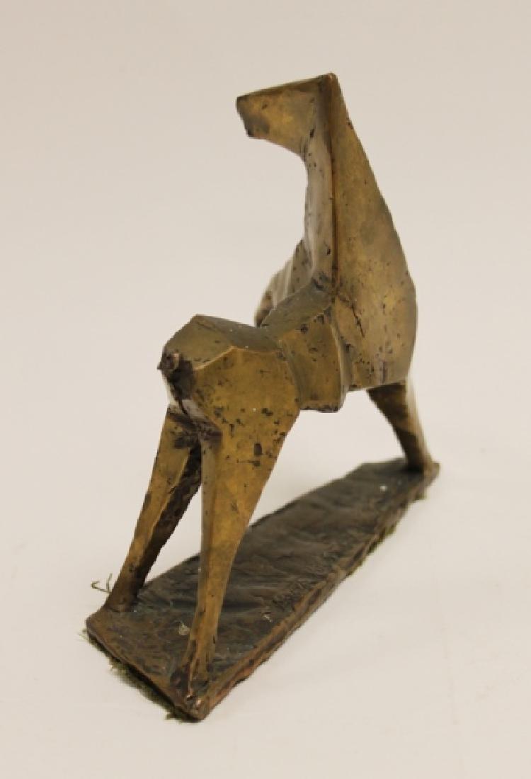 Vintage Cubist Modern Sculpture of a Horse - 7