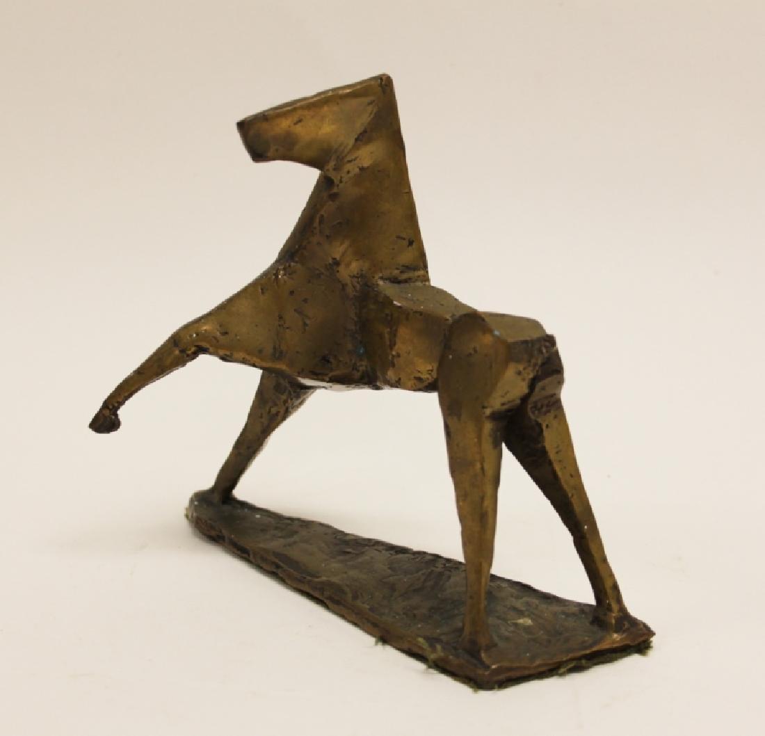Vintage Cubist Modern Sculpture of a Horse - 8