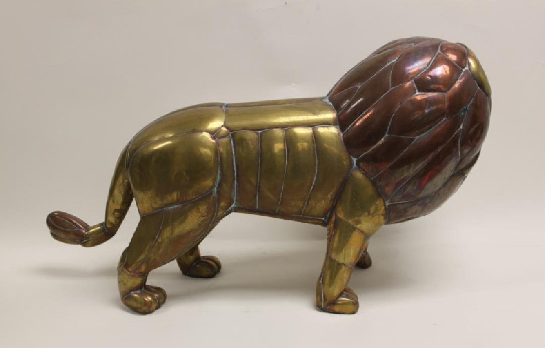 Sergio Bustamante Copper & Brass Lion Sculpture - 6
