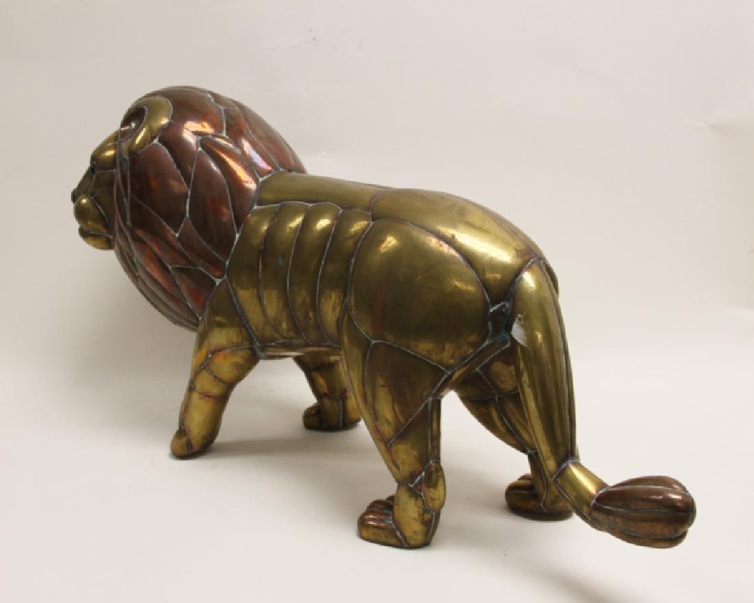 Sergio Bustamante Copper & Brass Lion Sculpture - 7
