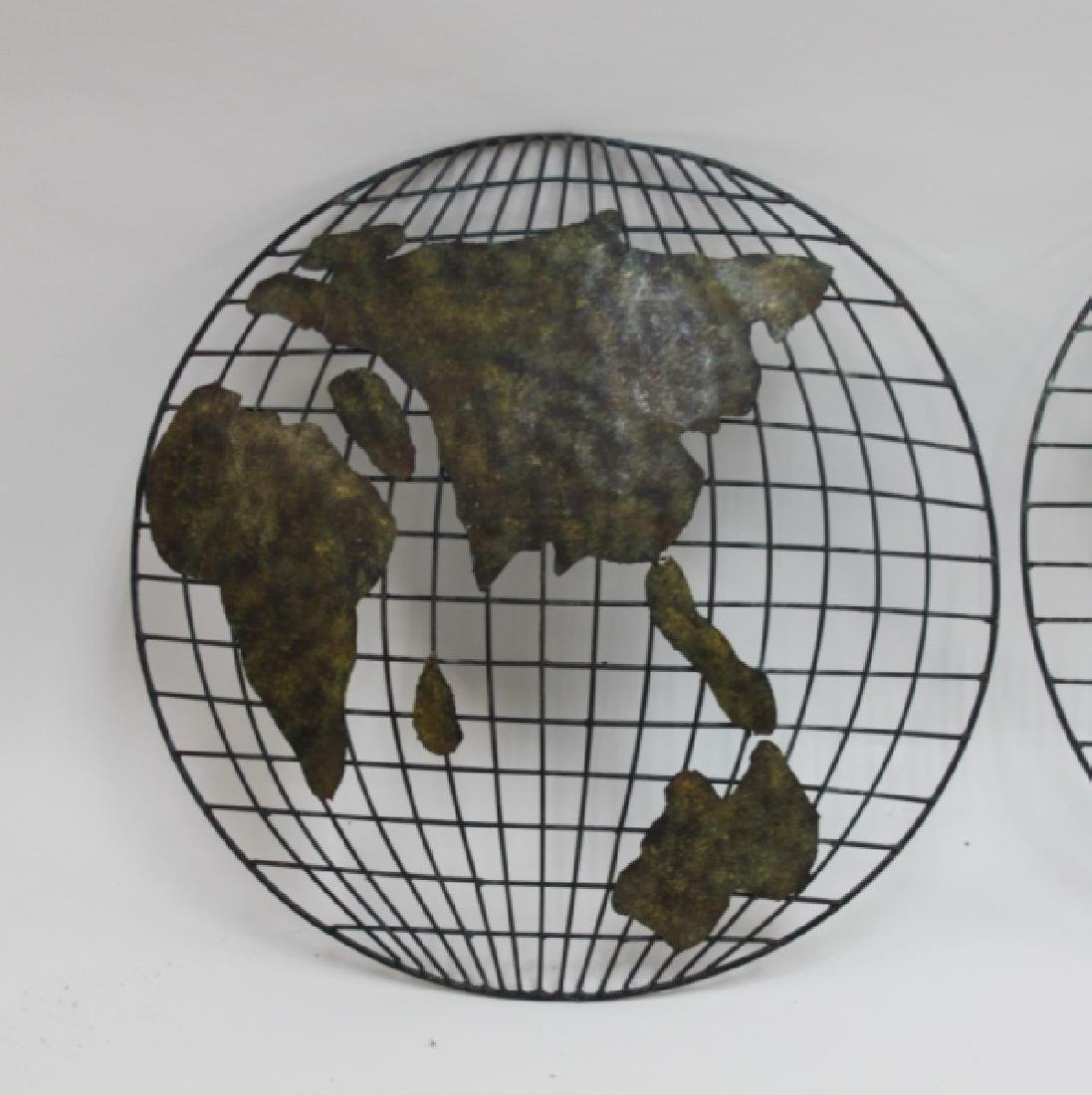Pr Curtis Jere Global Hemispheres Wall Sculptures - 3