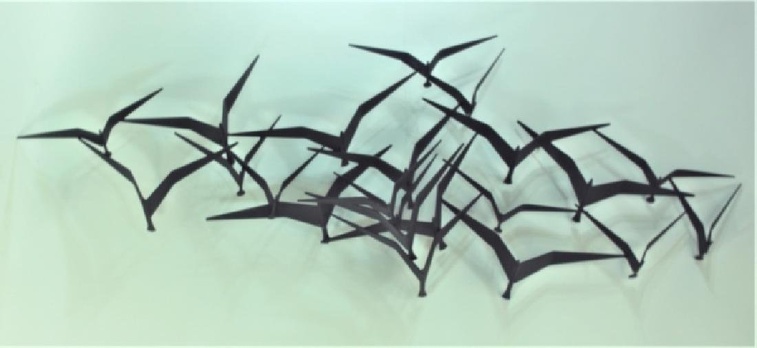 "Curtis Jere ""Birds in Flight"" Metal Wall Sculpture"