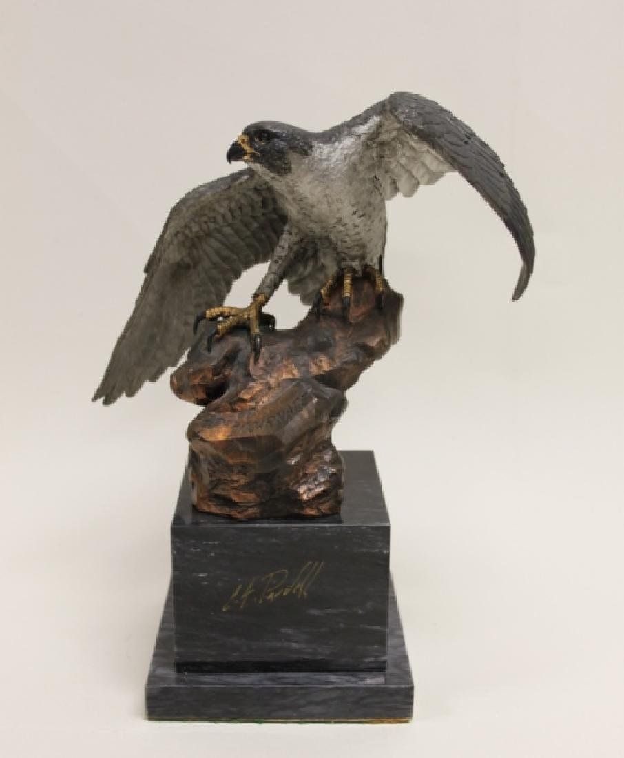 "C.A. Pardell ""Legends"" Peregrine Falcon Sculpture"