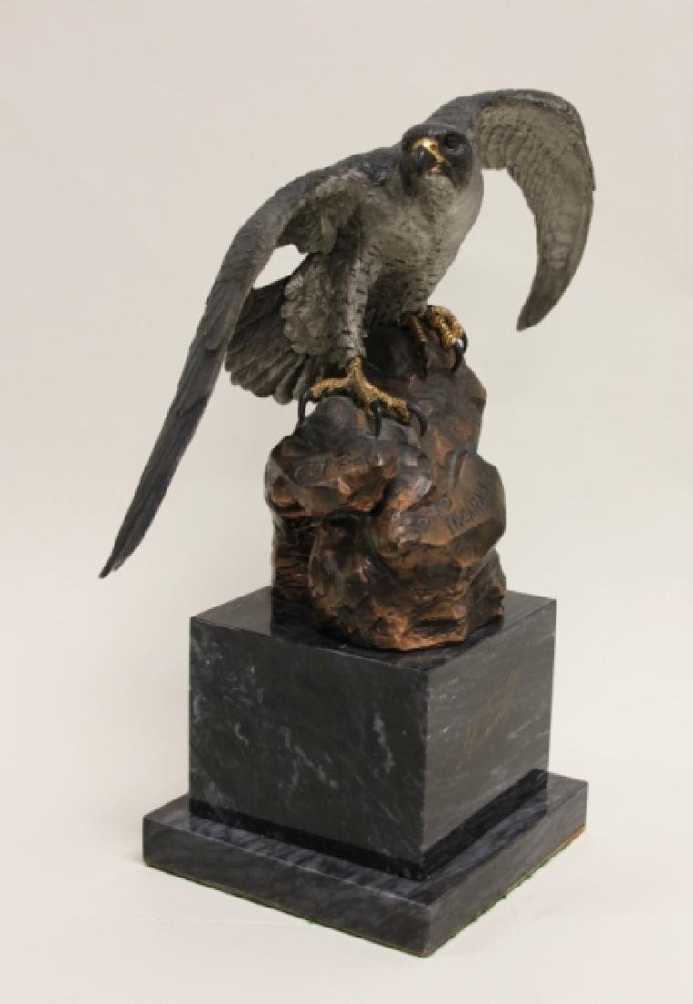 "C.A. Pardell ""Legends"" Peregrine Falcon Sculpture - 3"
