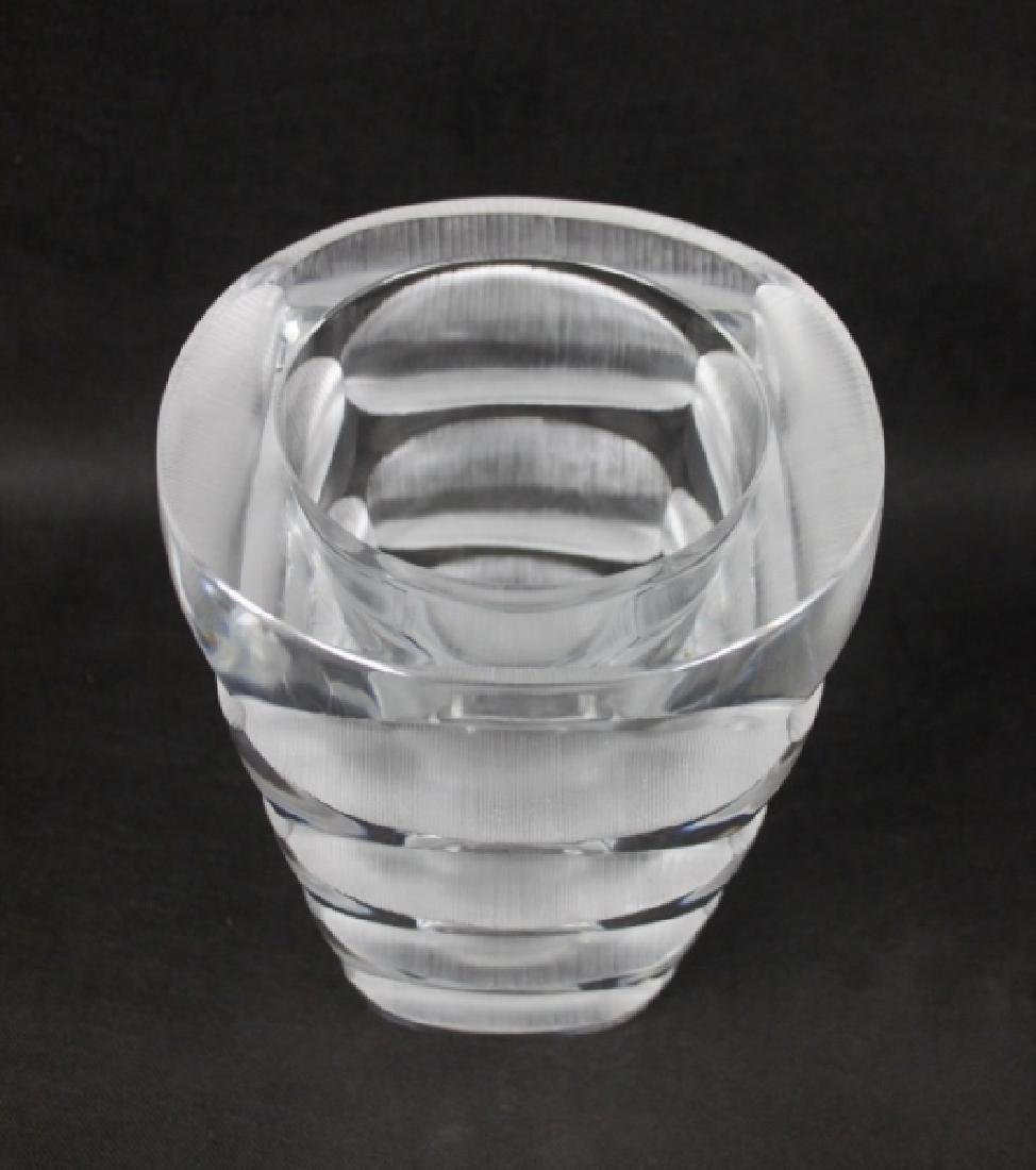Lalique France Geometric Deep Cut Art Deco Vase - 8