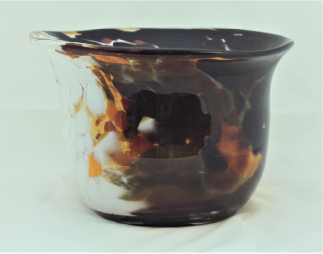 Magnor Handlaget Krystall Norwegian Art Glass Vase - 2
