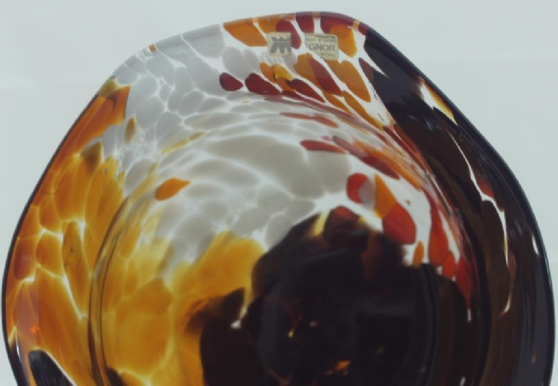 Magnor Handlaget Krystall Norwegian Art Glass Vase - 6