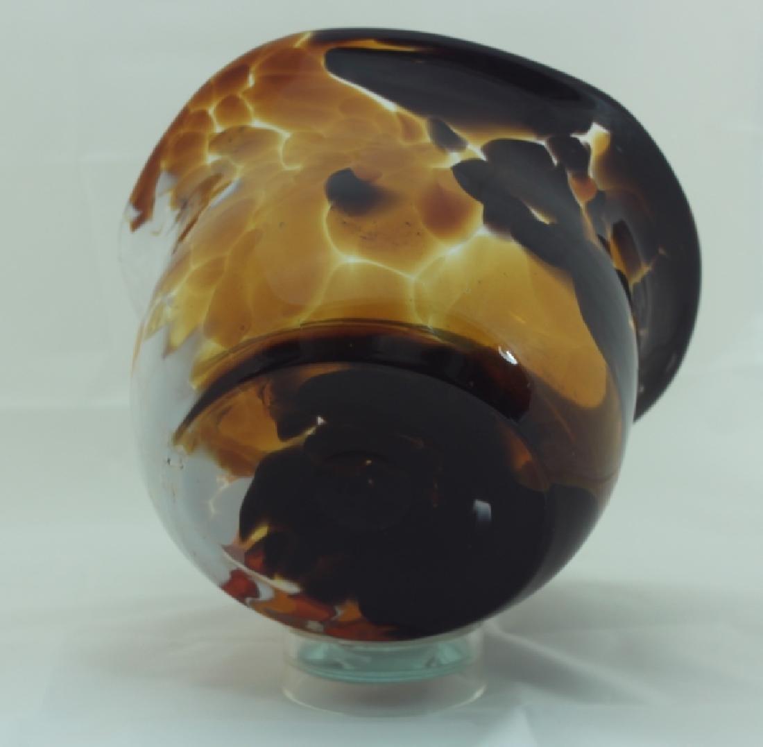 Magnor Handlaget Krystall Norwegian Art Glass Vase - 7