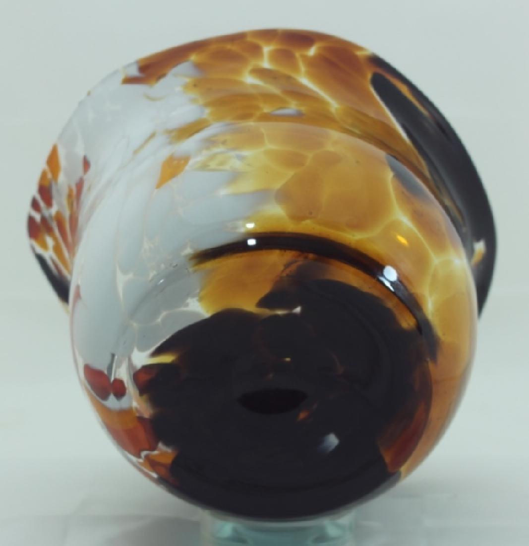 Magnor Handlaget Krystall Norwegian Art Glass Vase - 8