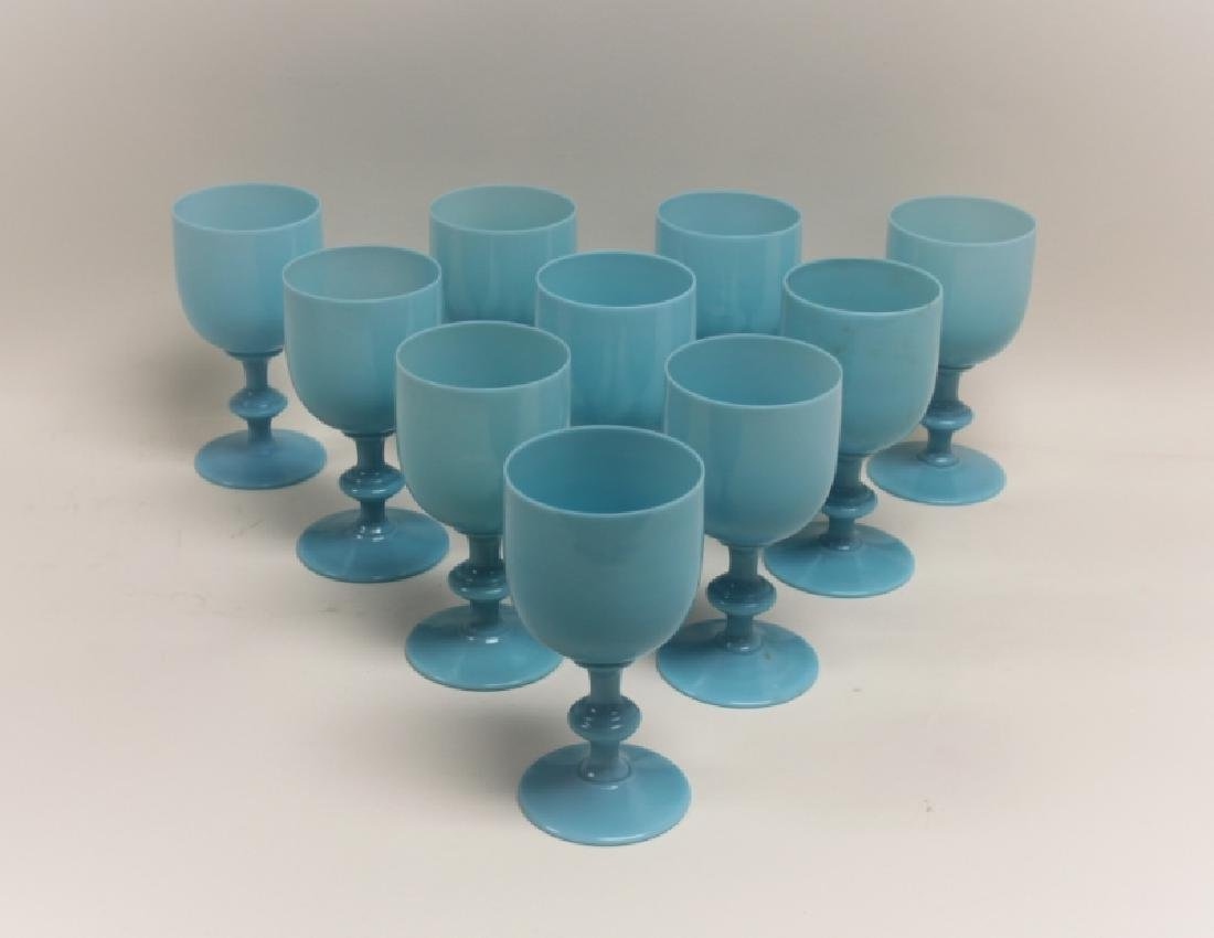 (10) French Portieux Vallerysthal Opaline Goblets