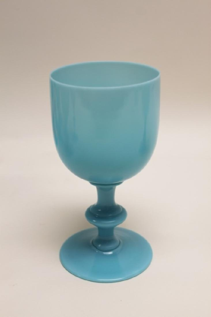 (10) French Portieux Vallerysthal Opaline Goblets - 2