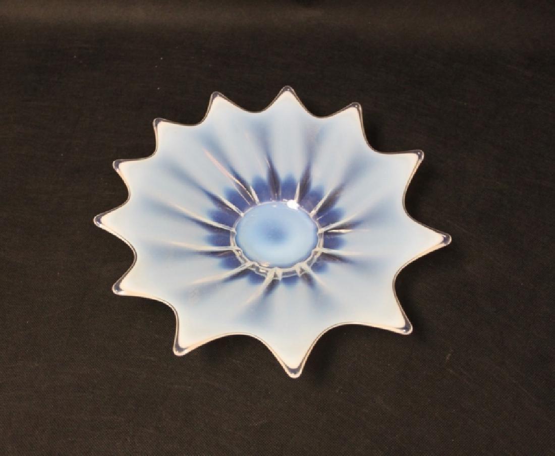 (3)Pcs French Art Deco Opaline Glass Bowls & Plate - 4