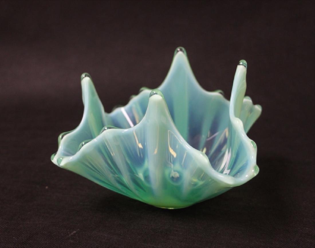 (3)Pcs French Art Deco Opaline Glass Bowls & Plate - 9