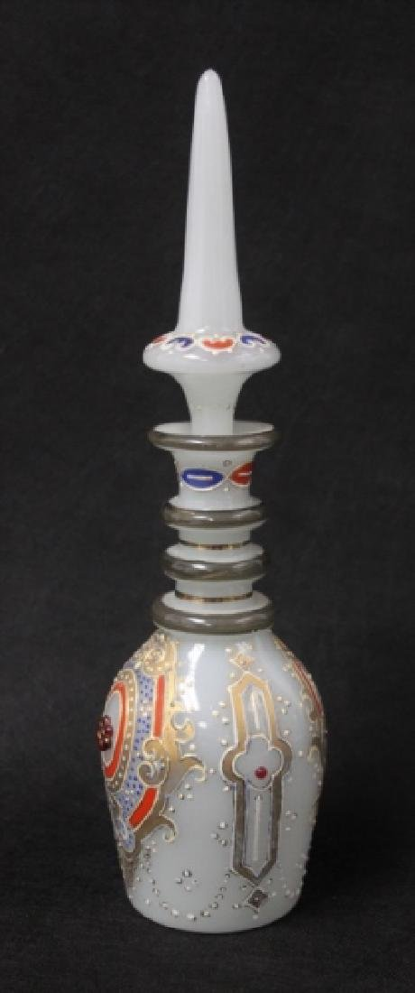 "19C Moser ""Persian"" Opalescent Glass Decanter - 10"