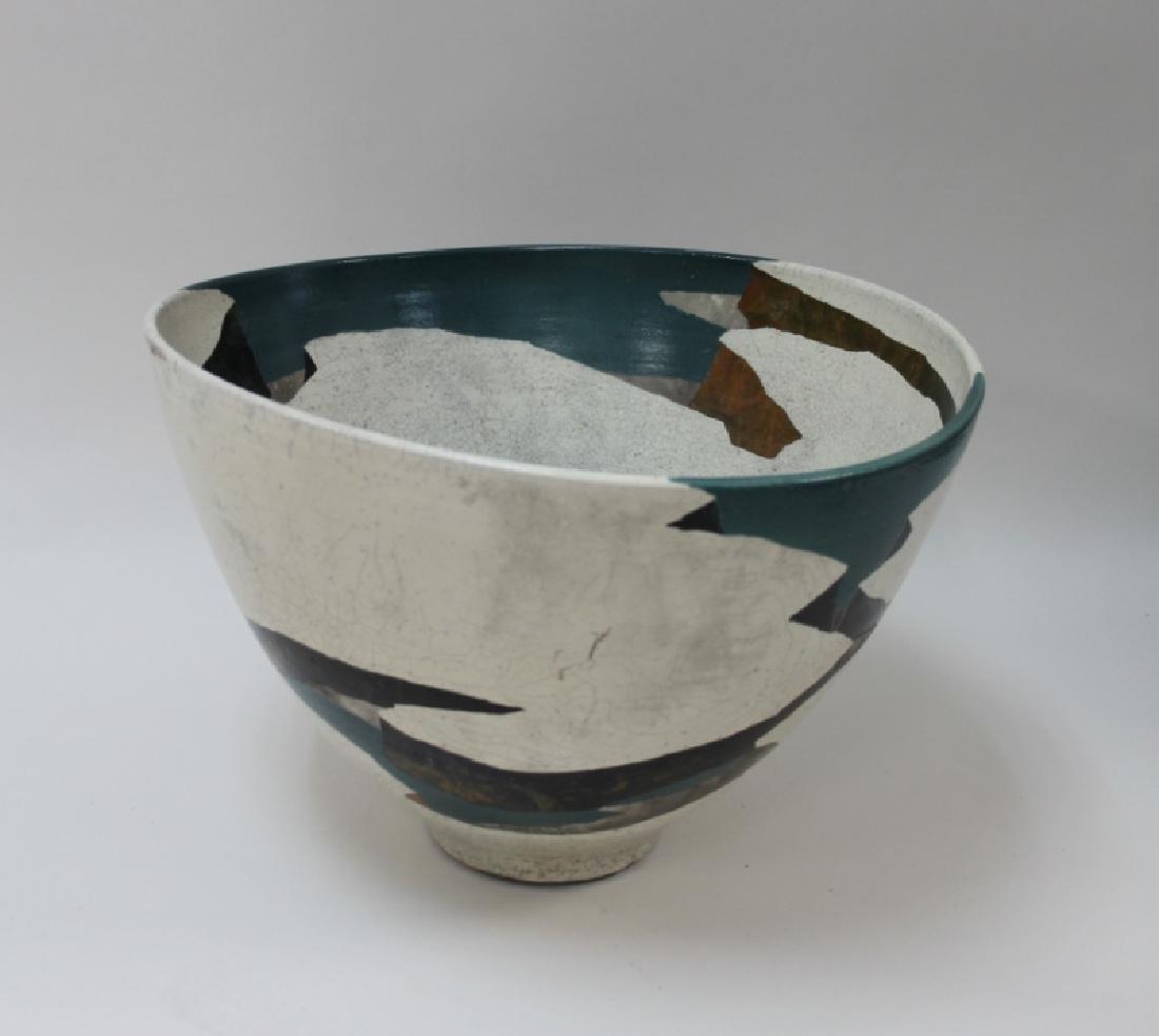 1970's Wayne Higby Large Raku Art Pottery Bowl - 2