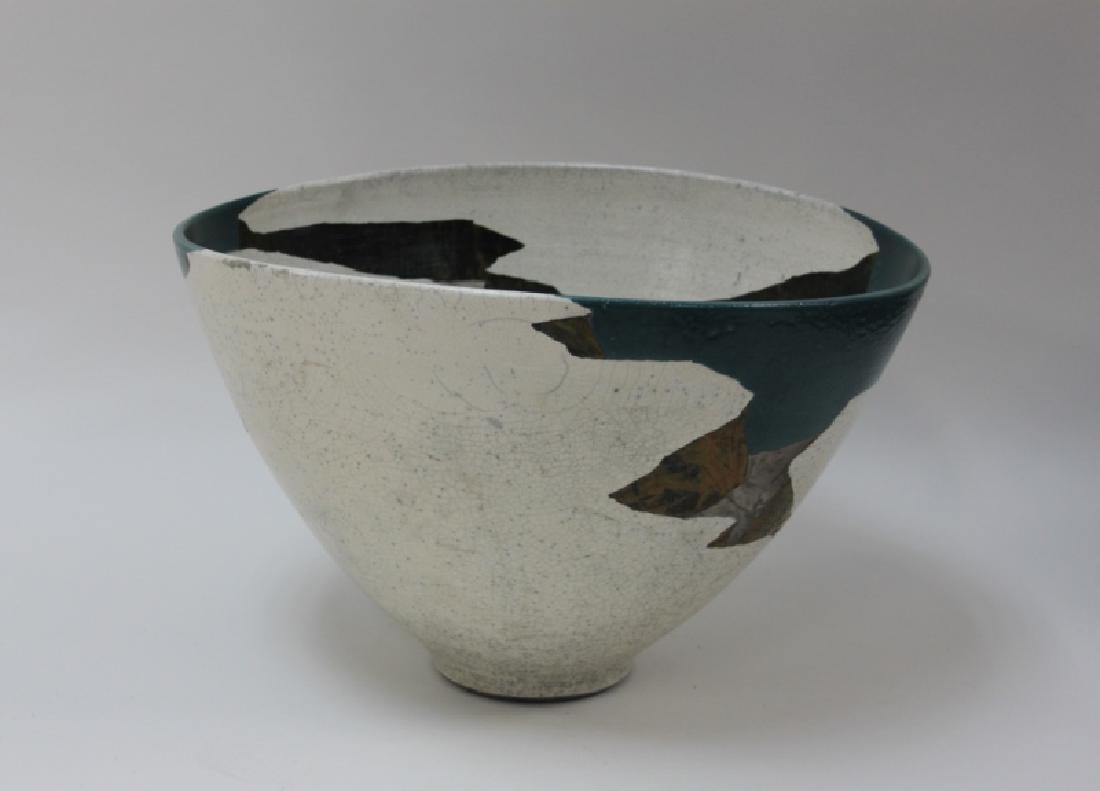 1970's Wayne Higby Large Raku Art Pottery Bowl - 3