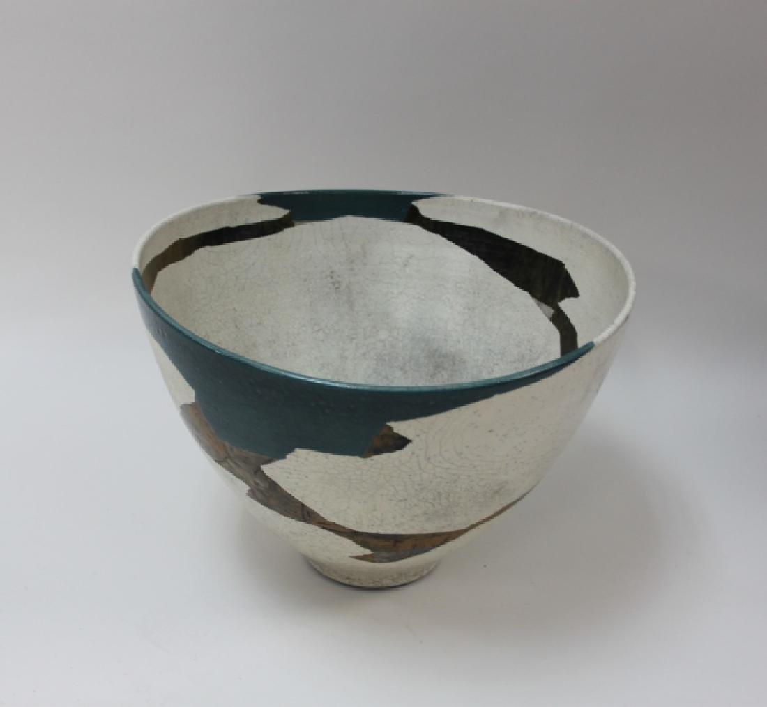 1970's Wayne Higby Large Raku Art Pottery Bowl - 4