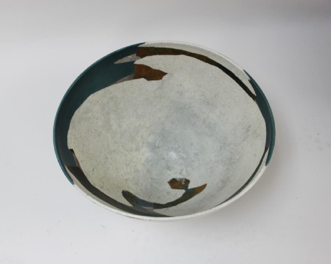 1970's Wayne Higby Large Raku Art Pottery Bowl - 5