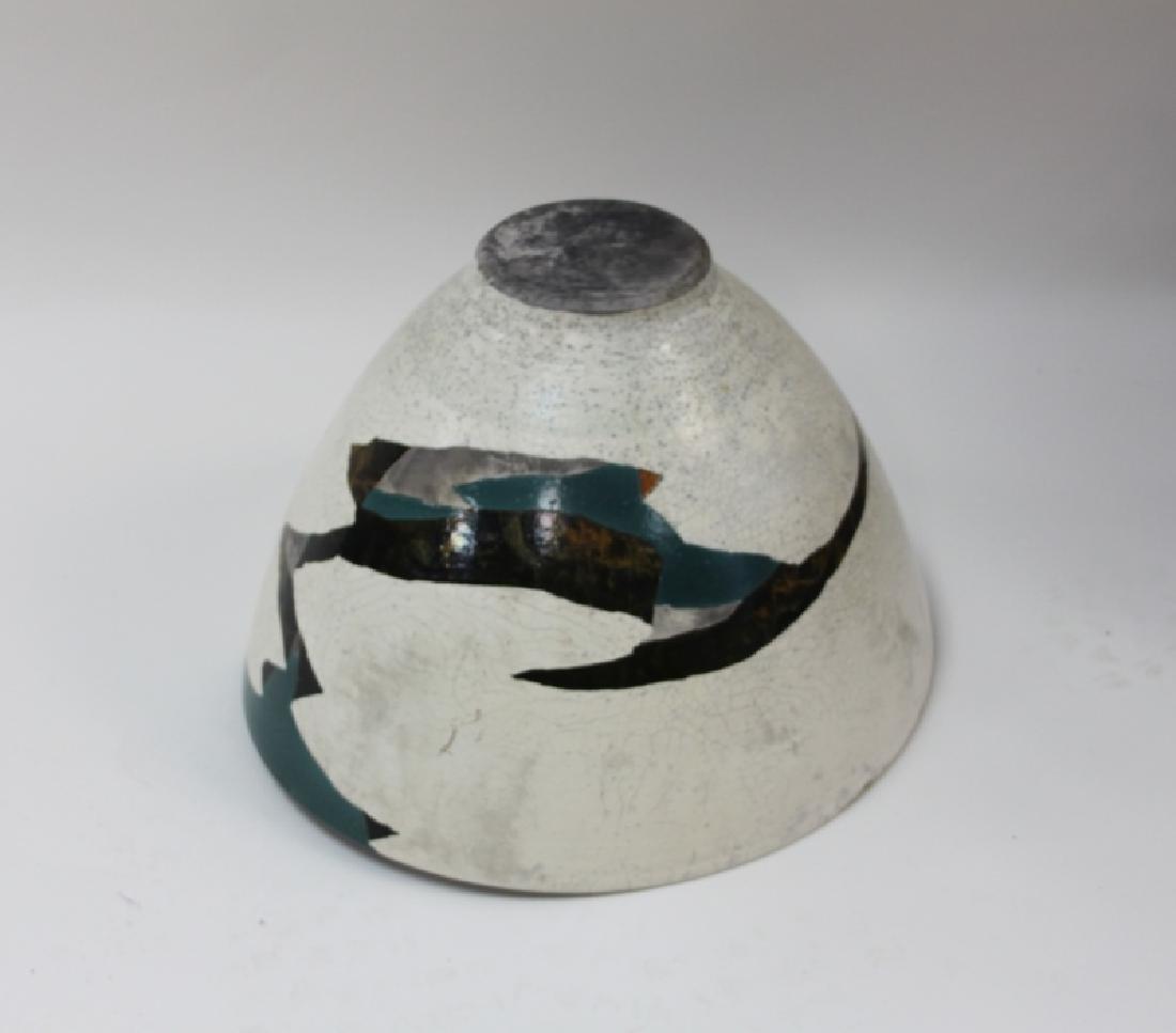 1970's Wayne Higby Large Raku Art Pottery Bowl - 6