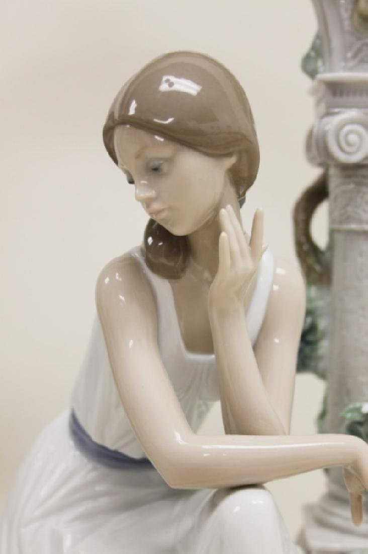 "Lladro #6677 ""Tranquility"" Young Woman Under Arbor - 2"