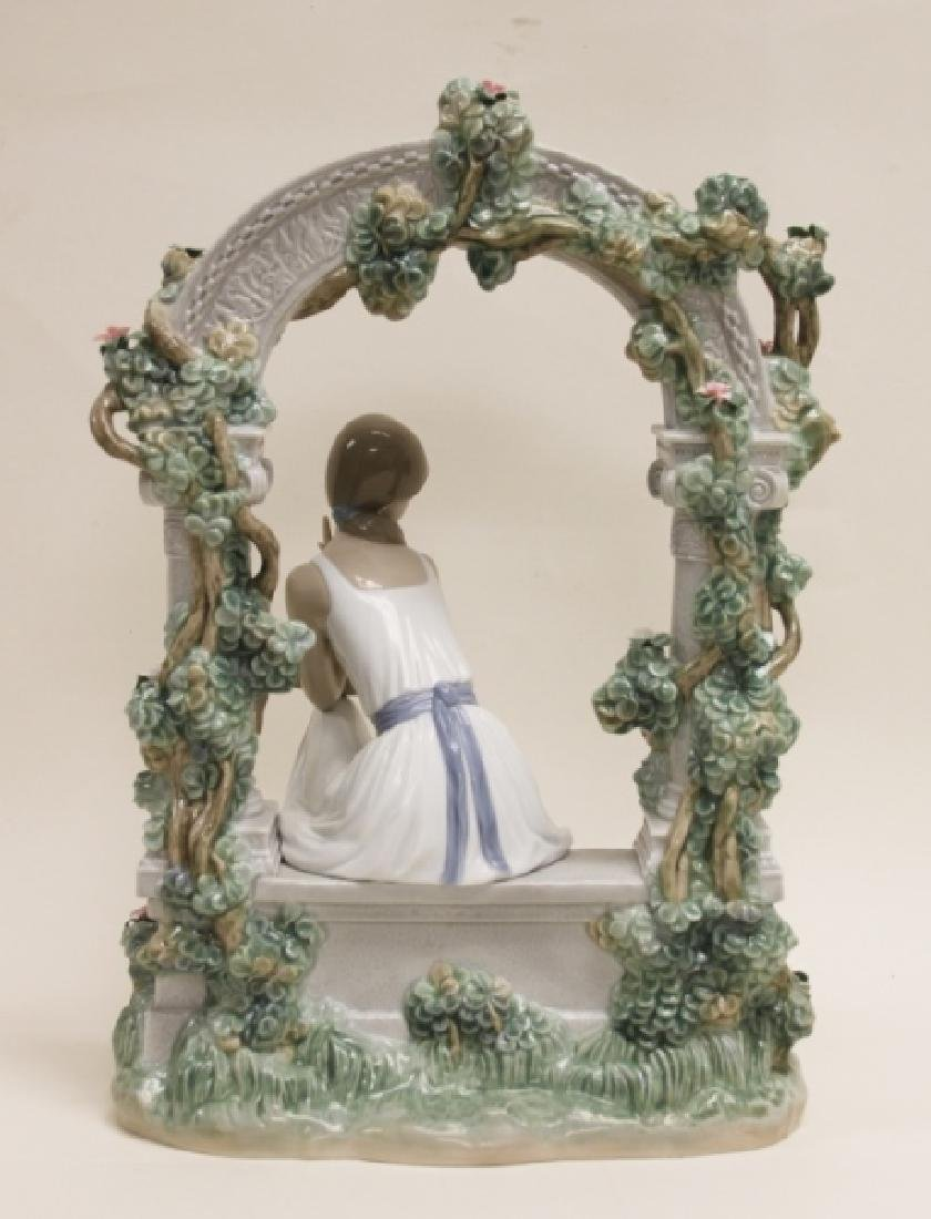 "Lladro #6677 ""Tranquility"" Young Woman Under Arbor - 4"
