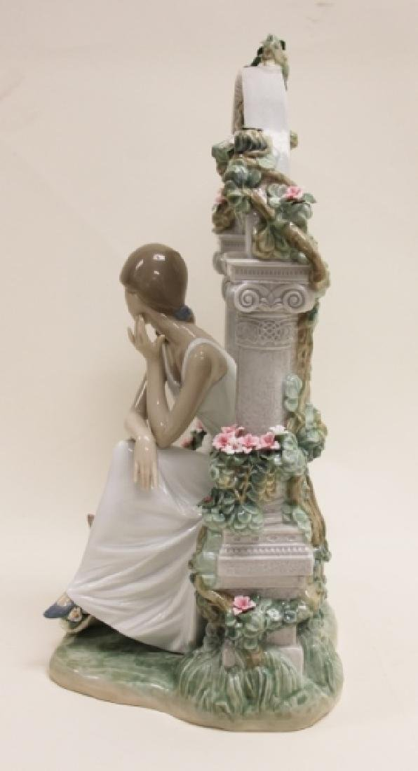 "Lladro #6677 ""Tranquility"" Young Woman Under Arbor - 6"
