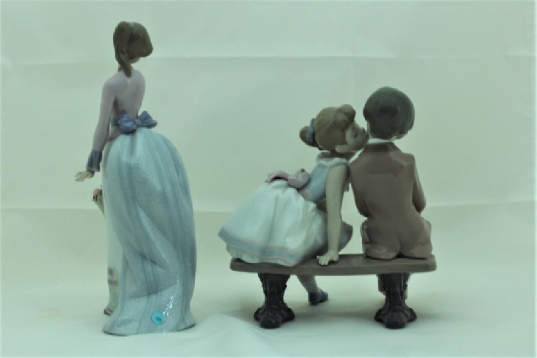 (2) Lladro Figures #7622 & #7635 Girls w Flowers - 4