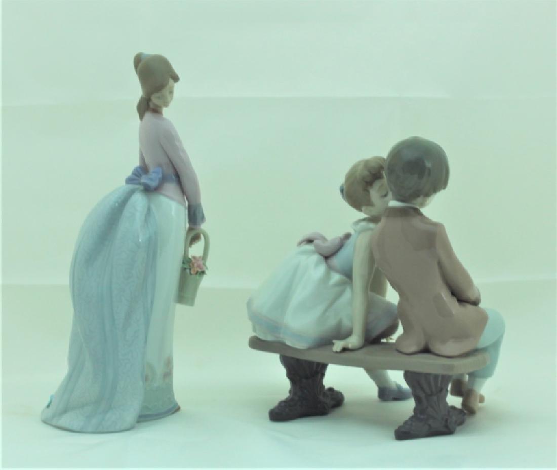 (2) Lladro Figures #7622 & #7635 Girls w Flowers - 5