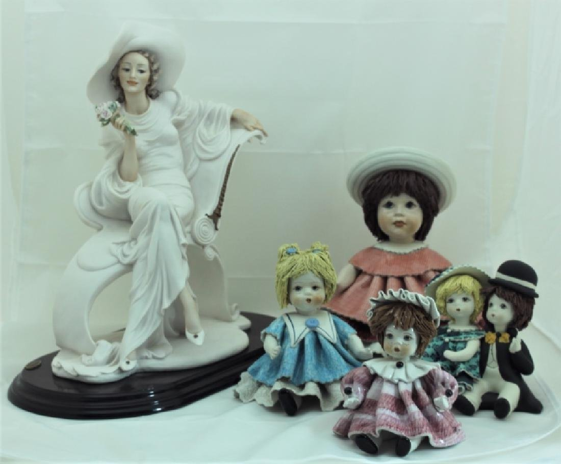 (4) Zampiva Dolls & (1) Giuseppe Armani Figurine