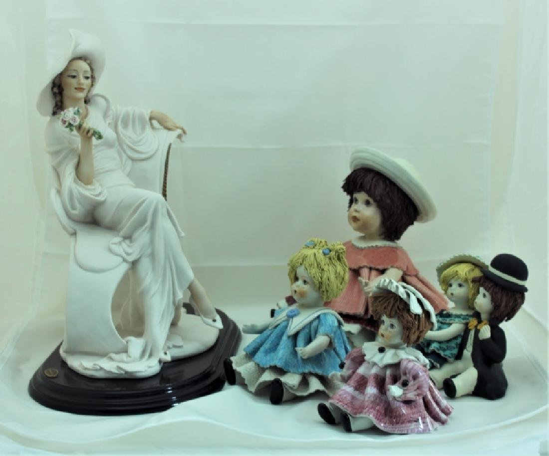 (4) Zampiva Dolls & (1) Giuseppe Armani Figurine - 3