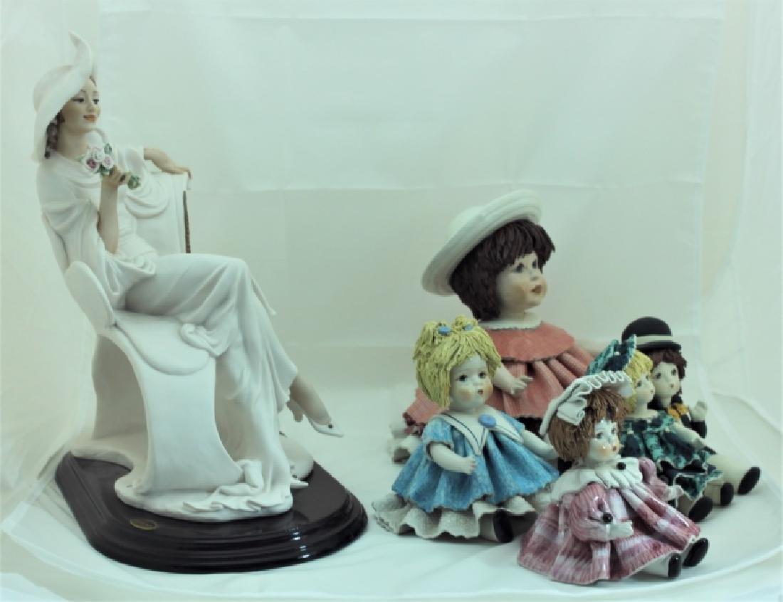 (4) Zampiva Dolls & (1) Giuseppe Armani Figurine - 4