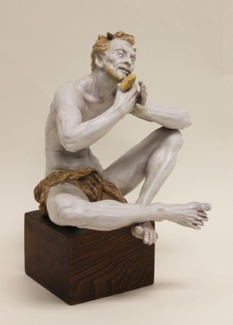 "Prof Eugenio Pattarino Terracotta Sculpture ""Pan"""
