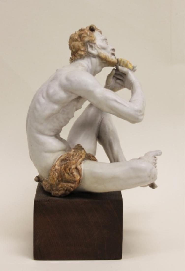 "Prof Eugenio Pattarino Terracotta Sculpture ""Pan"" - 2"