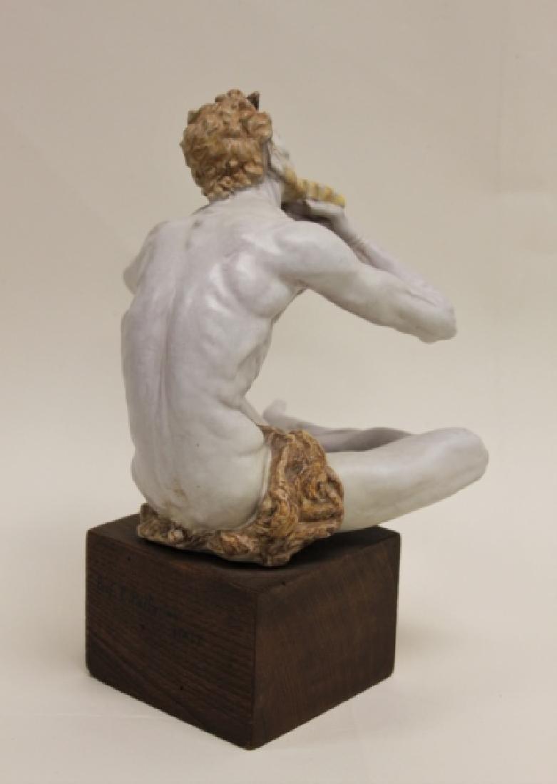 "Prof Eugenio Pattarino Terracotta Sculpture ""Pan"" - 4"
