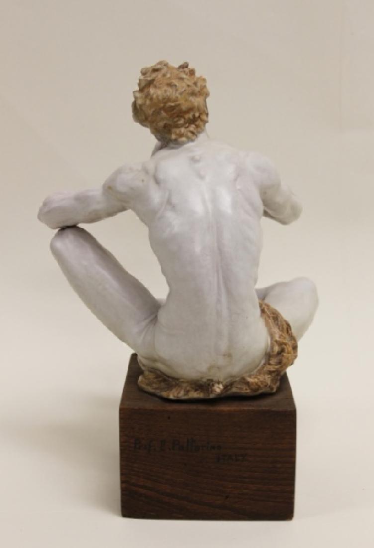 "Prof Eugenio Pattarino Terracotta Sculpture ""Pan"" - 5"