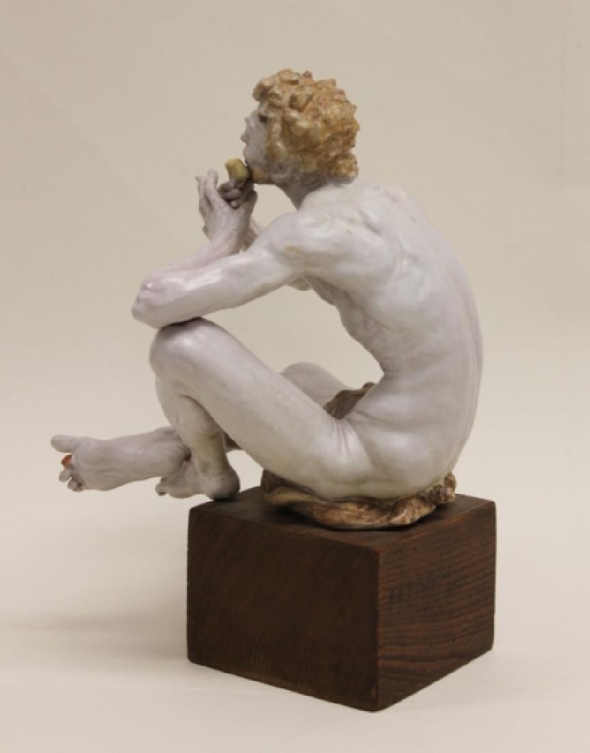 "Prof Eugenio Pattarino Terracotta Sculpture ""Pan"" - 6"